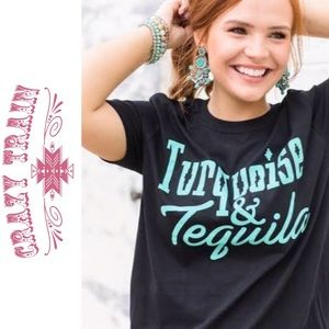 """Crazy Train """"Torquouise and Tequila"""" t shirt"""